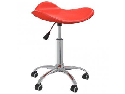 Kosmetická stolička červená umělá kůže