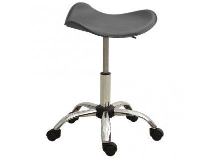 Kosmetická stolička šedá umělá kůže