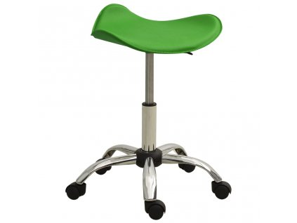 Kosmetická stolička zelená umělá kůže