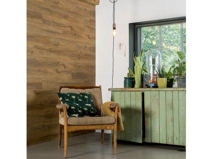 WallArt Nástěnný panel vzhled dřeva recyklovaný dub narezle hnědý