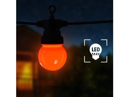 LED lucerna světelný řetěz 20 ks kulatá vánoční dekorace 23 m