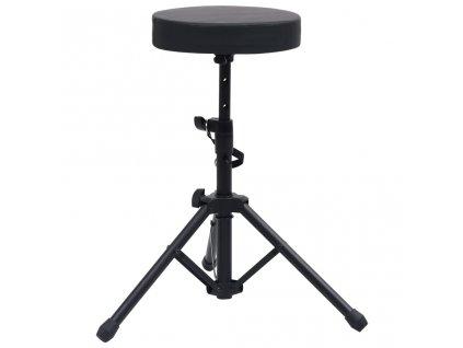 Nastavitelná bubenická stolička černá kulatá