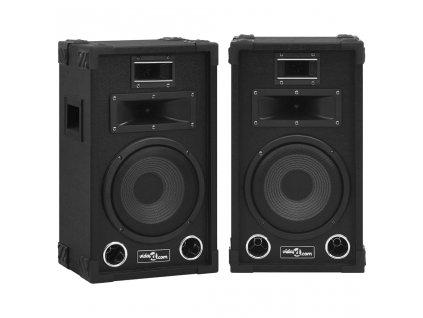 Profesionální pasivní hi-fi reproduktory 2 ks 800 W černé