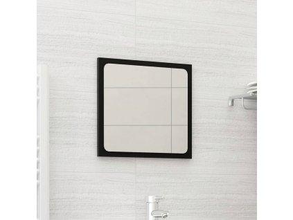 Koupelnové zrcadlo černé 40 x 1,5 x 37 cm dřevotříska