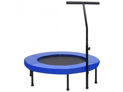 Fitness trampolína s rukojetí a bezpečnostní podložkou 102 cm