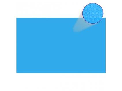 Obdélníkový kryt na bazén 800 x 500 cm PE modrý