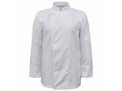 Kuchařský rondon s dlouhým rukávem, 2 ks, vel. XL, bílá