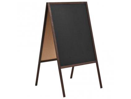 Oboustranná tabule z cedrového dřeva volně stojící 60 x 80 cm