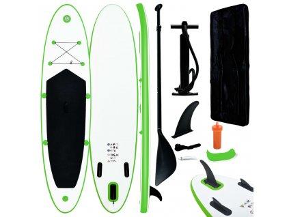 Nafukovací SUP paddleboard zeleno-bílý