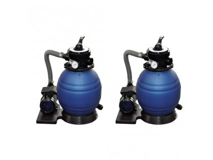 Písková filtrační čerpadla 2 ks 400 W 11 000 l/h