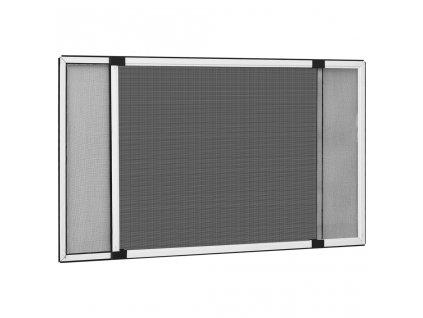 Posuvná okenní síť proti hmyzu bílá (75-143) x 50 cm