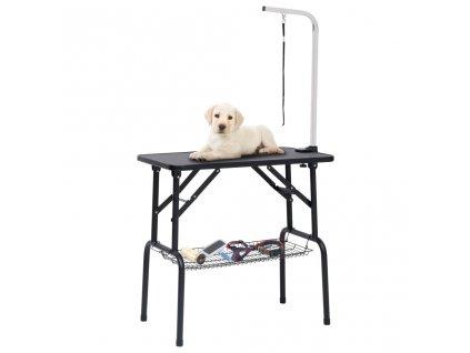 Nastavitelný stůl na stříhání psů s 1 smyčkou a košem