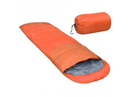 Lehký spací pytel oranžový 15 °C 850 g