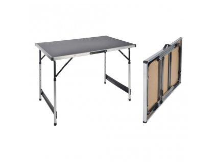 HI Skládací stůl 100 x 60 x 94 cm hliník