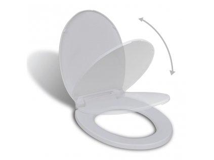 Toaletní sedátko s pomalým sklápěním bílé oválné