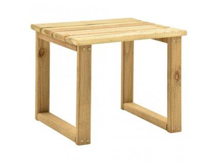 Stolek k zahradní posteli 30 x 30 x 26 cm impregnovaná borovice