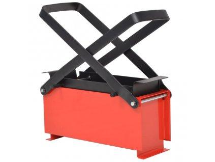 Lis na výrobu papírových briket ocel 34x14x14 cm černo-červený