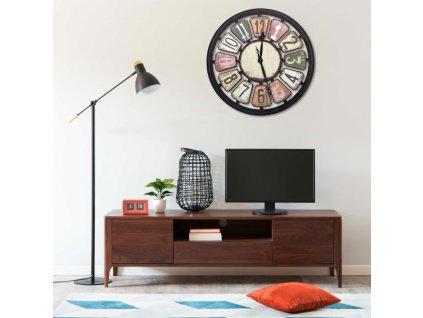 Nástěnné hodiny vícebarvené 80 cm MDF