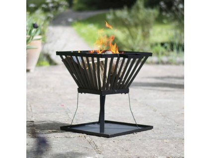 RedFire Koš na oheň Denver černý ocel 39 x 39 cm 85015