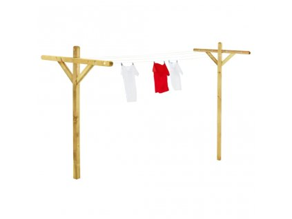 Stojany na prádlo 2 ks 120 x 170 cm impregnované borové dřevo