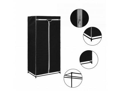 Skříň černá 75 x 50 160 cm