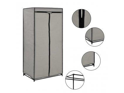Šatní skříň šedá 75 x 50 x 160 cm