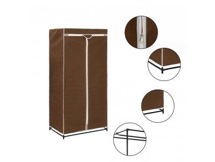 Šatní skříň hnědá 75 x 50 x 160 cm