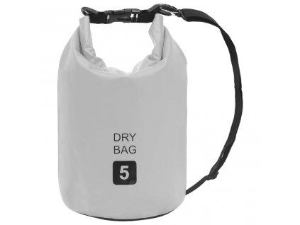 Nepromokavý vak šedý 5 l PVC