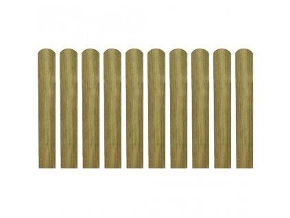 Impregnované plotovky 10 ks dřevo 60 cm