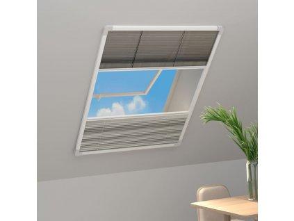 Plisovaná okenní síť proti hmyzu hliník 60x160 cm se zástěnou