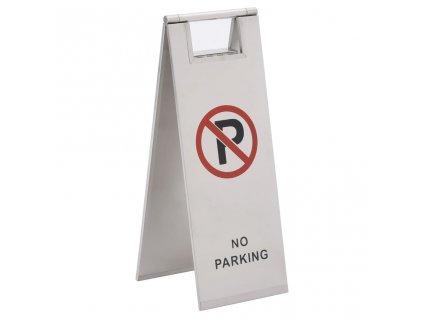Skládací cedule zákaz parkování nerezová ocel