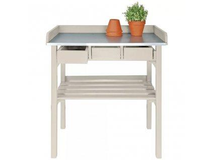 Esschert Design zahradní pracovní stůl bílý CF29W