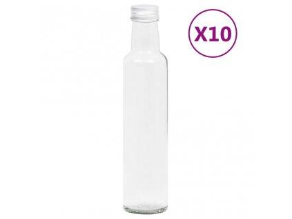 Malé skleněné láhve 260 ml se šroubovým uzávěrem 10 ks