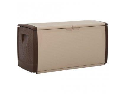 Úložný box béžovo-hnědý 122 x 56 x 63 cm