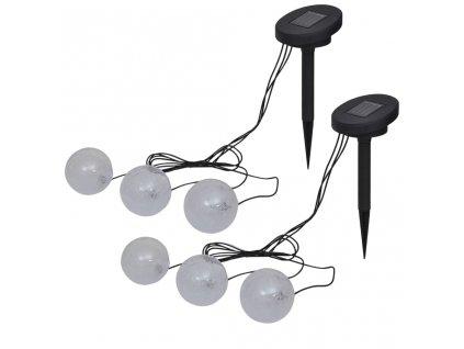 Plovoucí lampy 6 ks LED pro jezírko a bazén