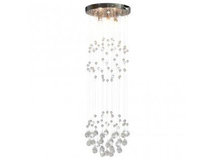Stropní svítidlo s křišťálovými korálky kruh 3 žárovky G9
