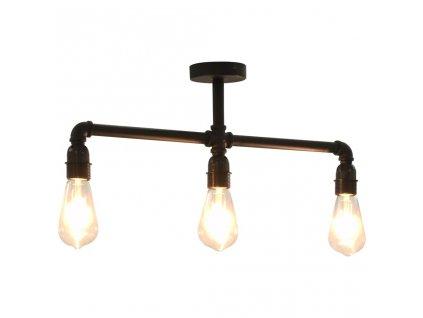 Stropní svítidlo černé 3 x žárovky E27