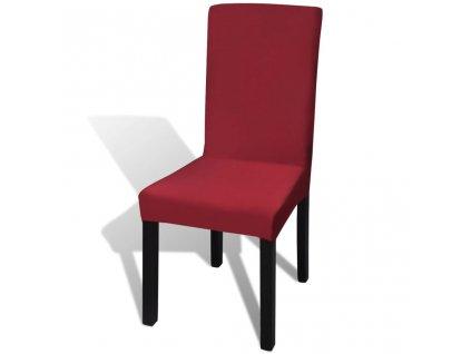 Bordó potah na židli napínací, 6ks