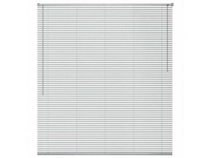 Okenní žaluzie hliník 100x220 cm stříbrná