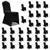 Potahy na židle napínací černé 30 ks
