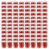 Zavařovací sklenice s bíločervenými víčky 96 ks 230 ml