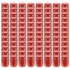 Zavařovací sklenice s červenými víčky 96 ks 230 ml