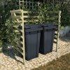 Přístřešek na 2 popelnice 140x80x150 cm impregnovaná borovice