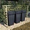 Přístřešek na tři popelnice 210x80x150 cm impregnovaná borovice