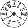 Vintage nástěnné hodiny se strojkem Quartz kovové 80 cm XXL