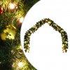 Vánoční girlanda ozdobená baňkami a LED světýlky 20 m