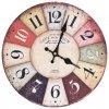 Vintage nástěnné hodiny 30 cm barevné