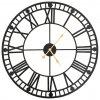 Vintage nástěnné hodiny se strojkem Quartz kovové 60 cm XXL
