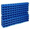 128dílná sada skladovacích zásobníků nástěnné panely modročerná