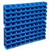96dílná sada skladovacích zásobníků nástěnné panely modročerná